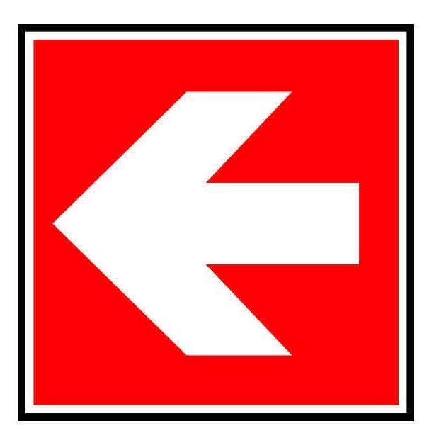Panneau ou autocollant indiquant de suivre la direction for Panneau inox autocollant