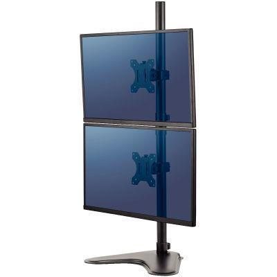Bras double écrans vertical sur socle professional series