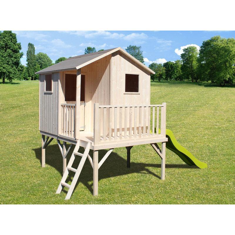 Cabanes pour enfants comparez les prix pour - Maisonnette en bois sur pilotis ...