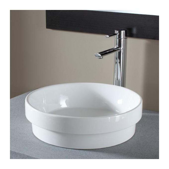 soldes vasque semi encastr e ronde blanche blanc planete bain planetebain comparer les prix de. Black Bedroom Furniture Sets. Home Design Ideas