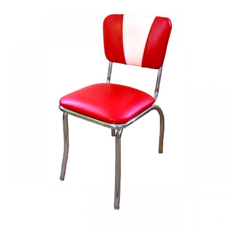 chaise de diner americain vintage rouge comparer les prix de chaise de diner americain vintage. Black Bedroom Furniture Sets. Home Design Ideas