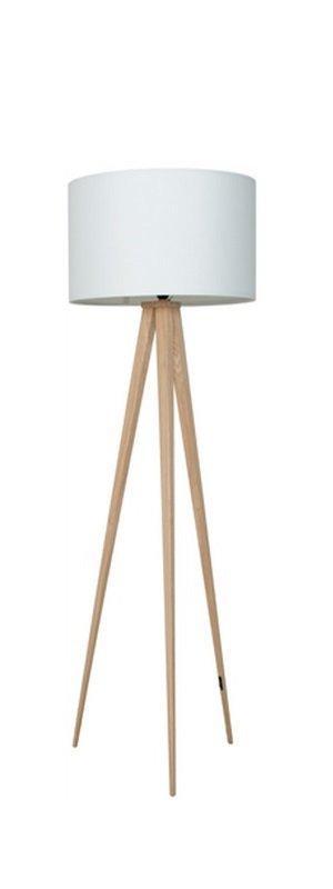 zuiver lampadaire tripod wood blanc. Black Bedroom Furniture Sets. Home Design Ideas