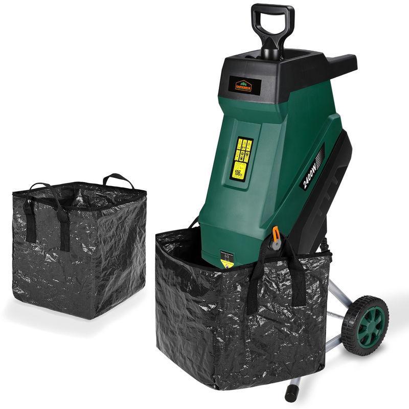 broyeur de jardin Broyeur /à rouleaux /électrique DELTAFOX sans entretien puissance 2800 W poussoir bac de ramassage de 60 l int/égr/é broyeur alimentation automatique