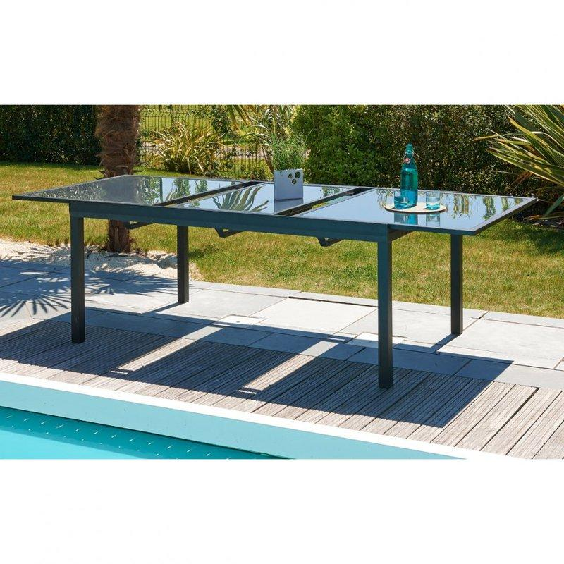 Table d 39 ext rieur dcb garden achat vente de table d for Table exterieur avec rallonge