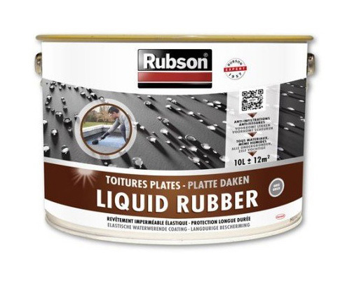 STOP FUITES TOITURES PLATES GRIS 10L - RUBSON