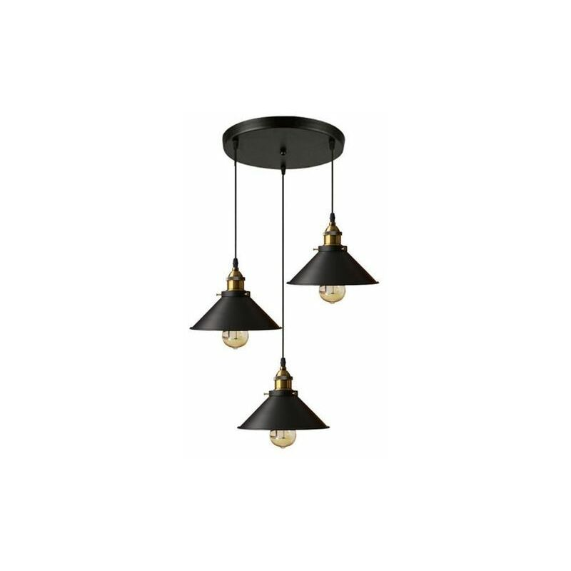 Suspension Industrielle Vintage Luminaire En Metal Fer Retro