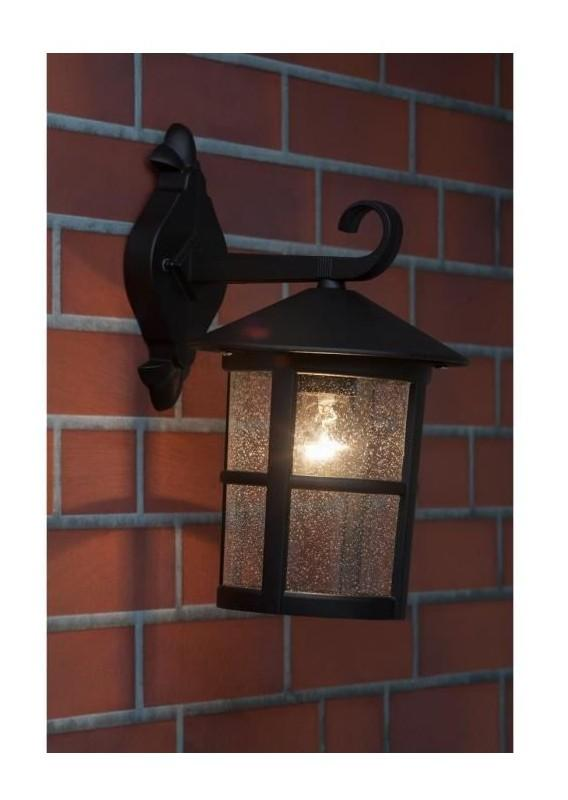 Brilliant applique ext rieure descendante jordy 60w noir for Applique murale exterieure descendante