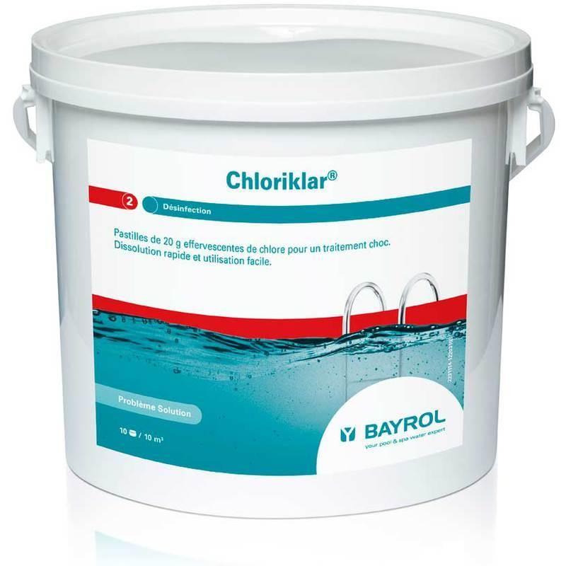 Chlore choc bayrol 5kg chloriklar comparer les prix de for Chlore pour piscine