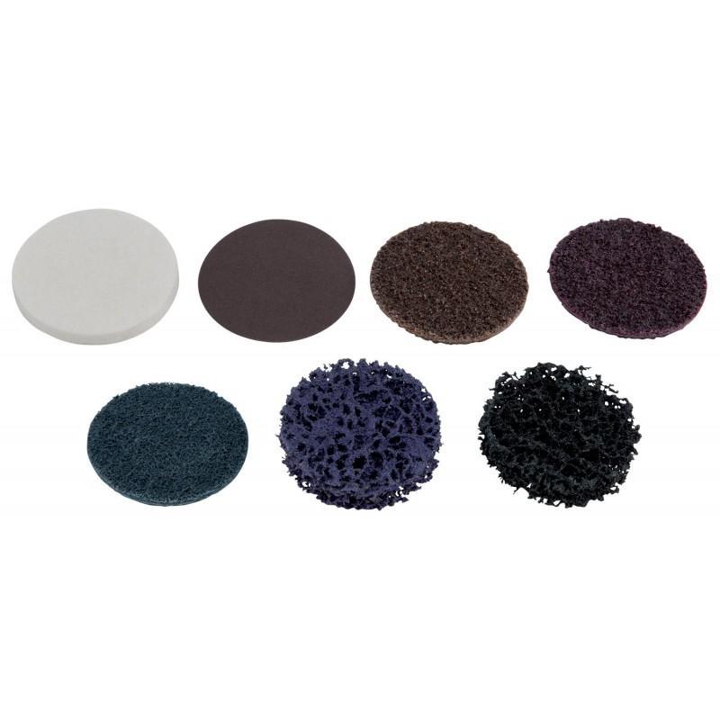 Ks tools 515.5083 disque de ponçage brun 50mm papier de verre grains 80