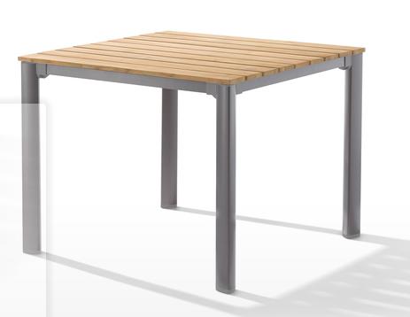 tables de jardin avec plateau en bois de teck 95 x 95 cm. Black Bedroom Furniture Sets. Home Design Ideas