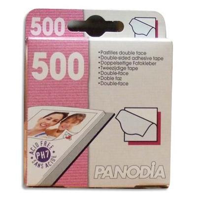 BOÎTE DE 500 COINS PHOTO ADHÉSIFS PANODIA - 10 X 10 MM