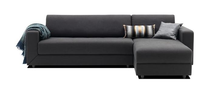 canape lit stockholm tissu mojave gris fonce. Black Bedroom Furniture Sets. Home Design Ideas
