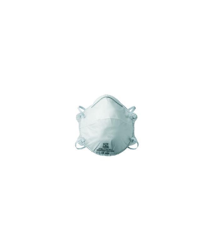 Demi-masque filtrant blanc à coque sans valve ffp2 nr d sl