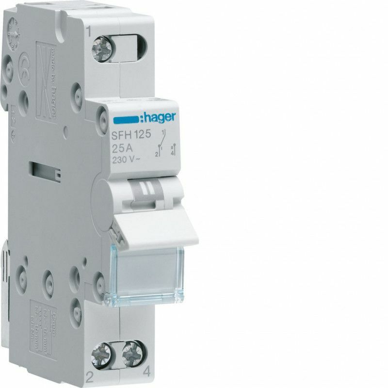 INVERSEUR MODULAIRE 1 PÔLE 32A, POINT COMMUN AMONT, I-II (SFH132) - HAGER