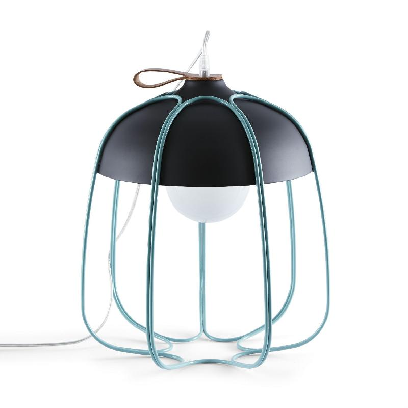 marvelous lampe led a poser sans fil 8 tull lampe baladeuse metal anthracite turquoise o36 5cm. Black Bedroom Furniture Sets. Home Design Ideas