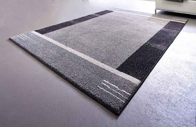 samoa design tapis patchwork gris 140x200 cm. Black Bedroom Furniture Sets. Home Design Ideas