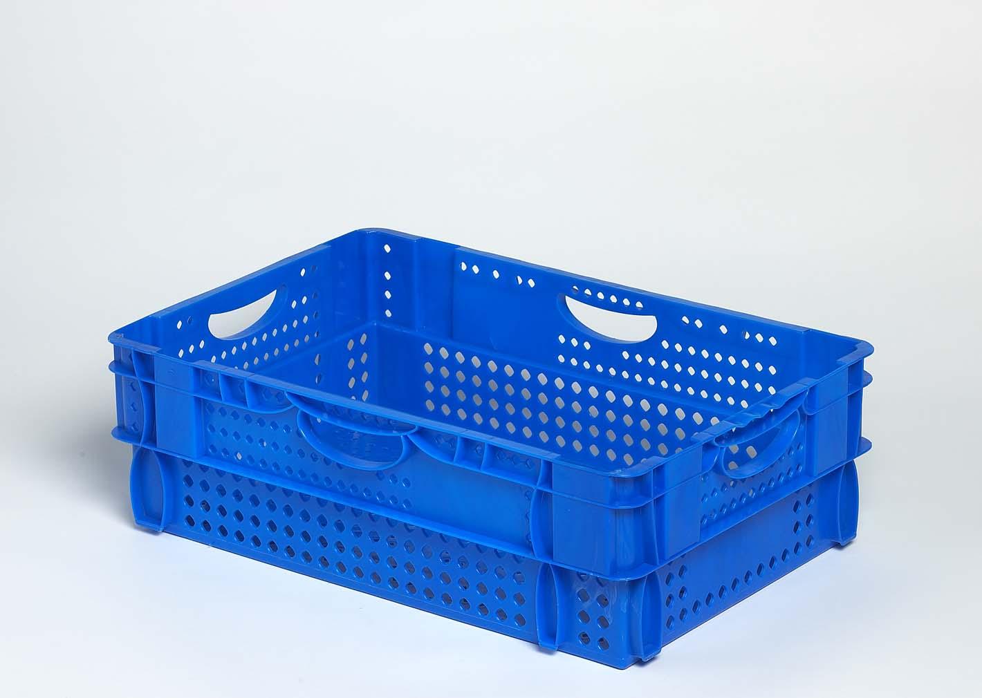 Bac plastique gerbable emboîtable ajouré 600x400x190