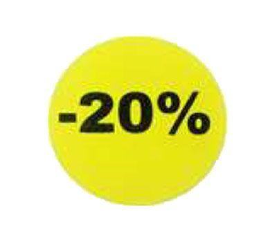 étiquette adhésive -20%