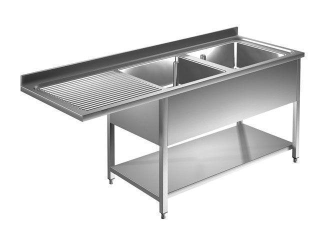 plonge passage lave vaiselle profondeur 600 700 mm plonge lave vaisselle 2 bacs a droite 9m5040. Black Bedroom Furniture Sets. Home Design Ideas