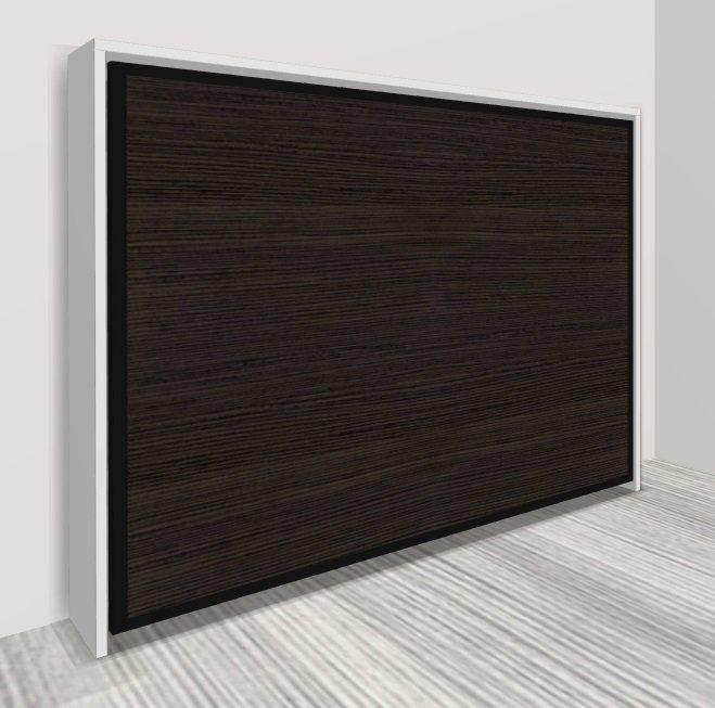 armoire lit transversale athena couchage 160 22 200 cm bicolore structure blanche 44. Black Bedroom Furniture Sets. Home Design Ideas