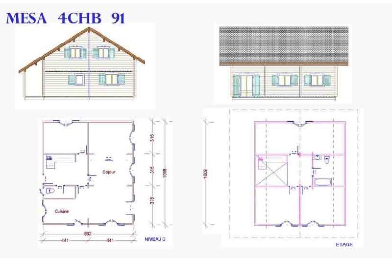 Bevorzugt Maisons a ossature en bois - tous les fournisseurs - habitat bois  JP75