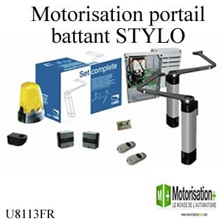 motorisation 24v portail 2 battants came kit stylo u8113fr. Black Bedroom Furniture Sets. Home Design Ideas