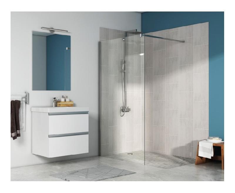 Paroi de douche fixe walk in anti calcaire mod le fidji 200 cm x 100 cm hxl pradel - Paroi douche fixe 100 cm ...