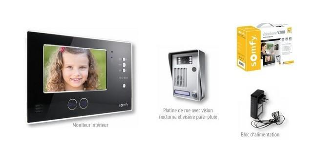 visiophone sans fil somfy achat vente de visiophone. Black Bedroom Furniture Sets. Home Design Ideas