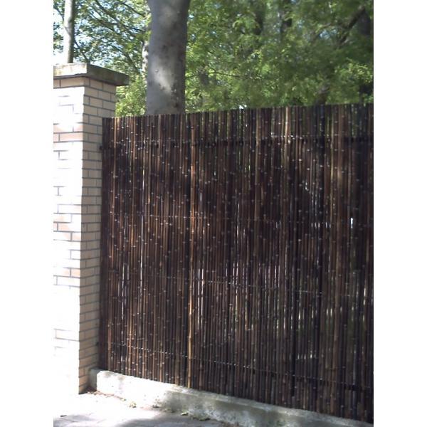Cl ture tradition naturel noir 5 cm hauteur for Cloture naturelle pour jardin