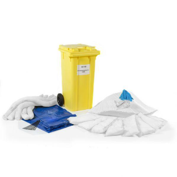 Conteneur 120l avec kit absorbants d'hydrocarbures