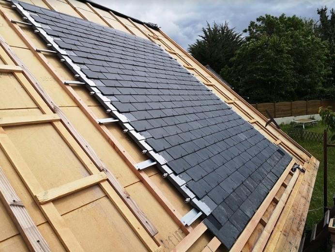 Thermoslate couverture traditionnel, capteur solaire en ardoise naturelle