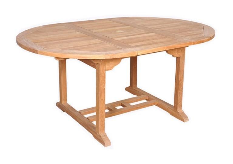 TABLE RONDE BARCELONE EN TECK MASSIF 4/6 PLACES - CÉMONJARDIN