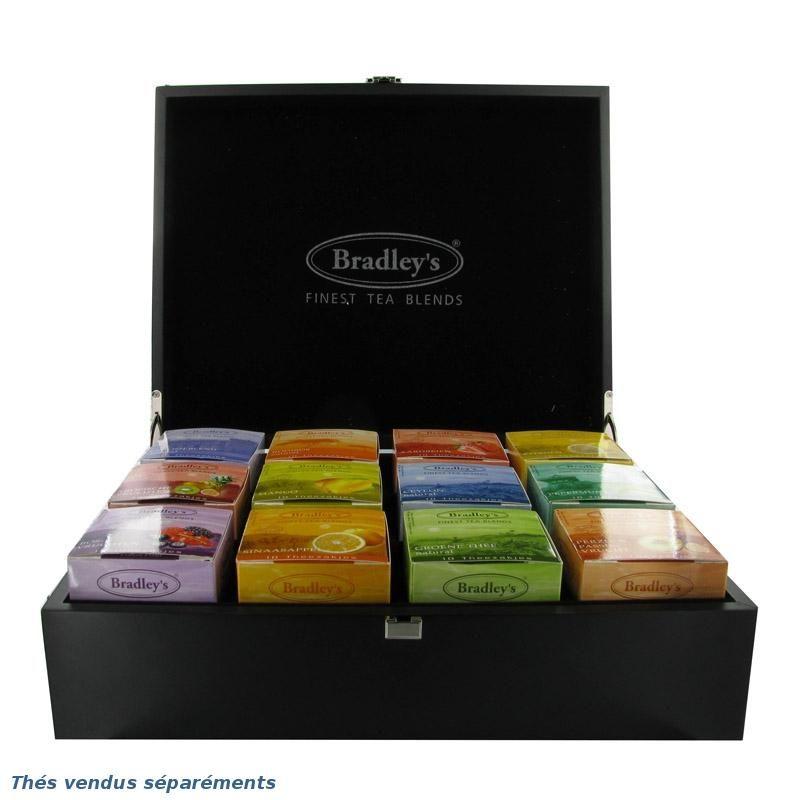 coffret de th s bradley 39 s pour 12 boites de 10 sachets vide sachets. Black Bedroom Furniture Sets. Home Design Ideas