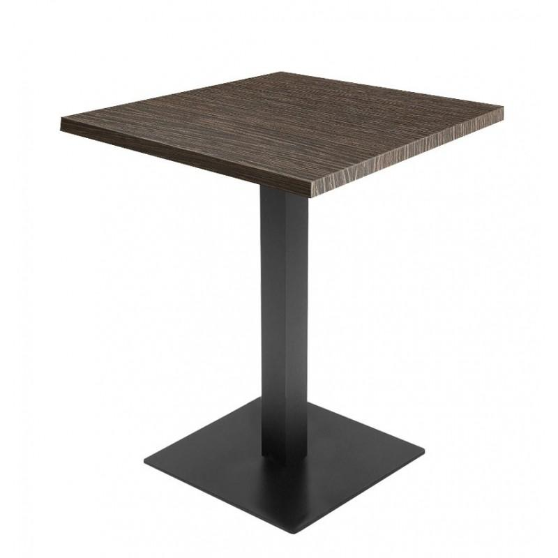 table wenge naturel 60 x 60cm support de table noir h72cm professionnel. Black Bedroom Furniture Sets. Home Design Ideas