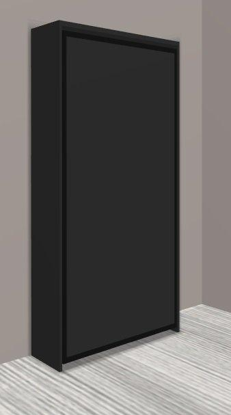 armoire lit escamotable cronos noir mat couchage 90 22 200 cm. Black Bedroom Furniture Sets. Home Design Ideas