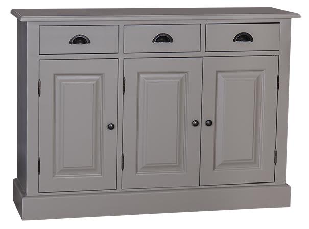 enfilade 3 portes 3 tiroirs en pin massif l 120 cm 39 39 portsmouth 39 39 comparer les prix de enfilade. Black Bedroom Furniture Sets. Home Design Ideas