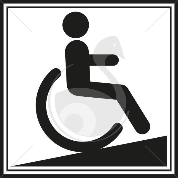 picto rampe d 39 acces pour handicapes. Black Bedroom Furniture Sets. Home Design Ideas