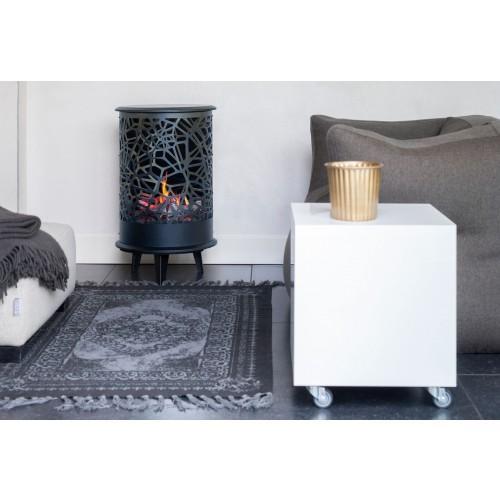 po le d coratif noir vision flamme 360 opti v glen. Black Bedroom Furniture Sets. Home Design Ideas