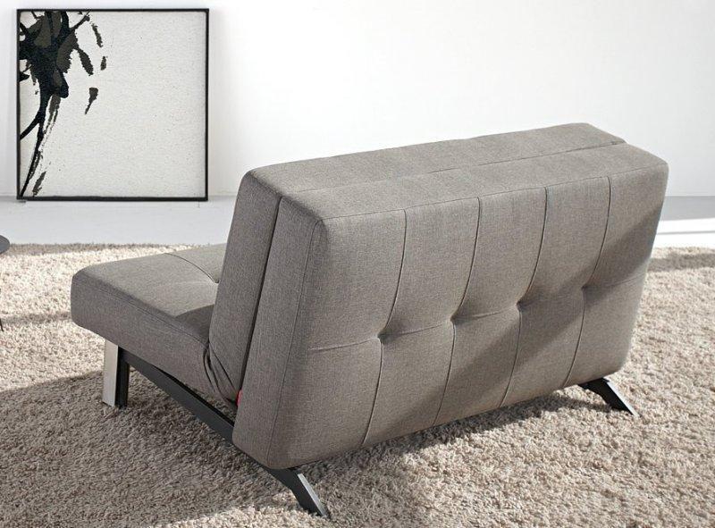 tjaze canape design gris convertible lit 140 200 cm. Black Bedroom Furniture Sets. Home Design Ideas