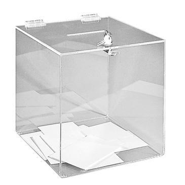 Urne transparente 25 x 25 x 25 cm - réf.ue2525