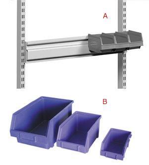 bac en plastique polypropylene a bec accrochables. Black Bedroom Furniture Sets. Home Design Ideas
