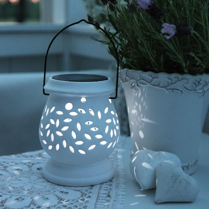 Clay lantern lanterne solaire d 39 ext rieur led blanc h14 for Lanterne exterieur led