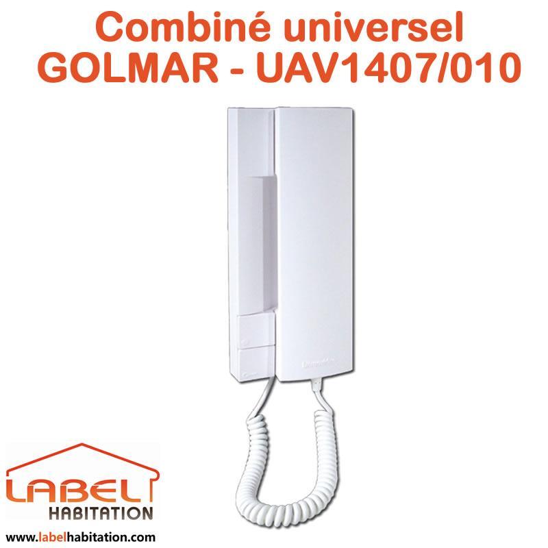 combin interphone audio universel golmar uav1407 010 comparer les prix de combin interphone. Black Bedroom Furniture Sets. Home Design Ideas