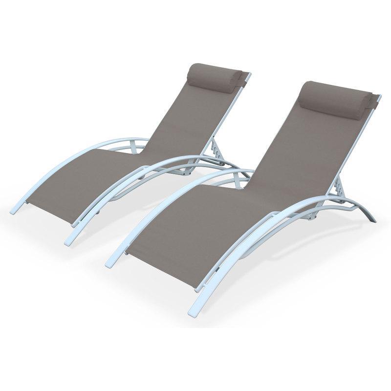 Chaise longue comparez les prix pour professionnels sur for Transat bain de soleil blanc