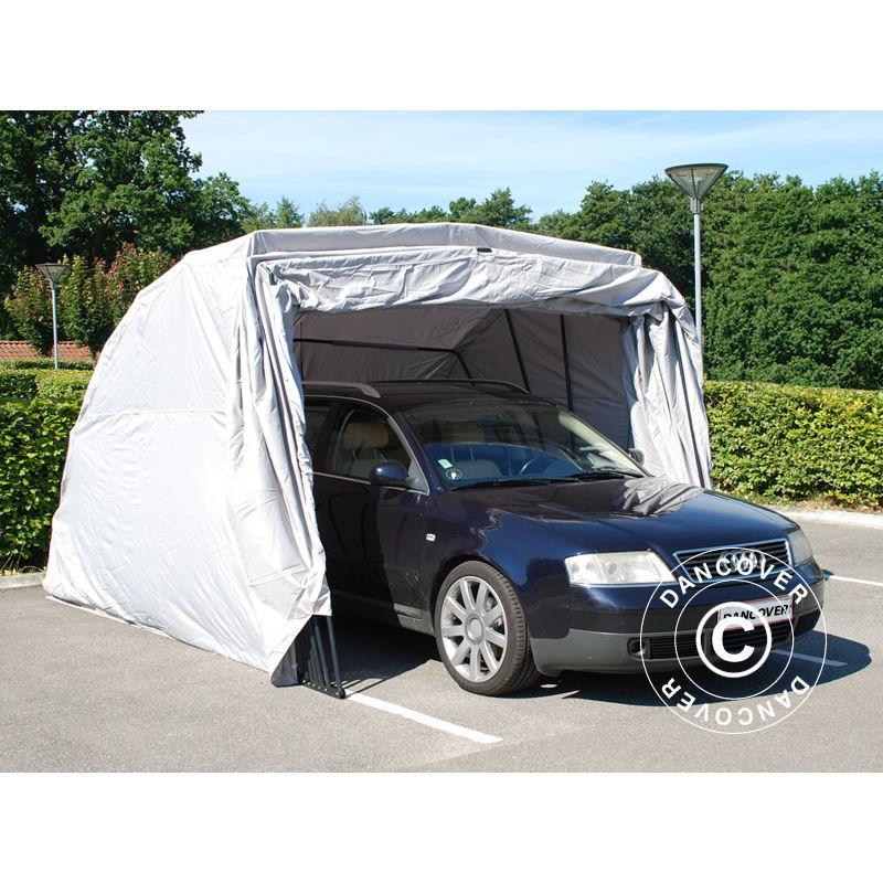 Gris 3,3x3,6x2,4m PE Tente Abri Voiture Garage Basic