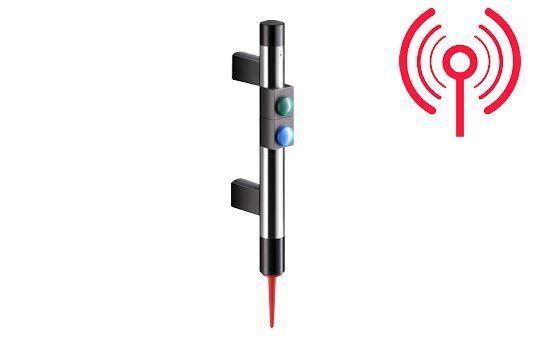 Poignée de commande radio avec boutonnerie et voyant intégré