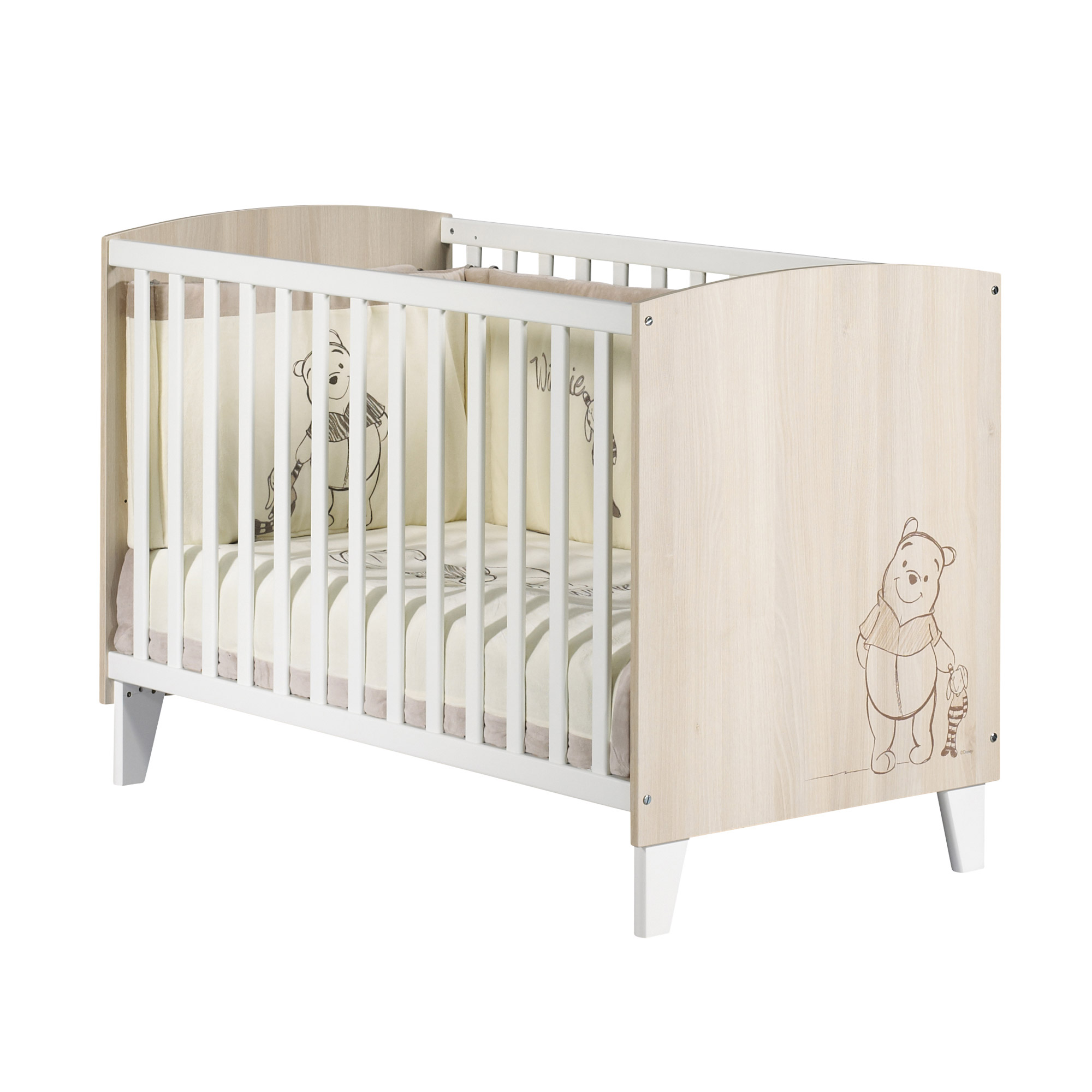 berceau winnie l 39 ourson lit bebe 60x120. Black Bedroom Furniture Sets. Home Design Ideas