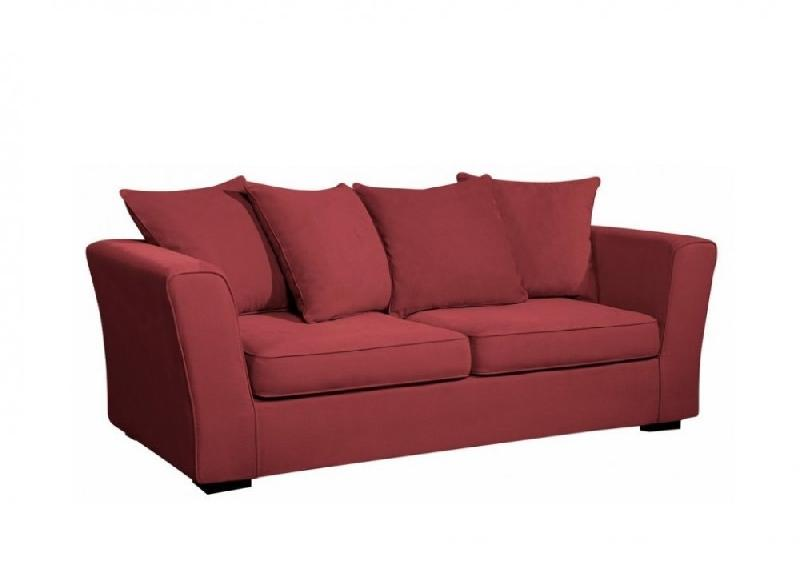 canap fixe watson 3 places tissu tweed rouge comparer les prix de canap fixe watson 3 places. Black Bedroom Furniture Sets. Home Design Ideas