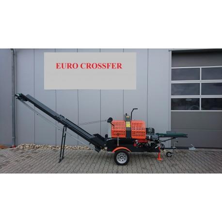 Combine thermique tractable scieur fendeuse 20t + tapis transporteur