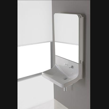 lavabo mural robinetterie cascade armoire de toilette. Black Bedroom Furniture Sets. Home Design Ideas